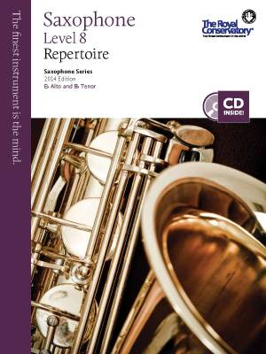 RCM Saxophone Level 8 Repertoire - Saxophone Series 2014 Edition - Book/CD