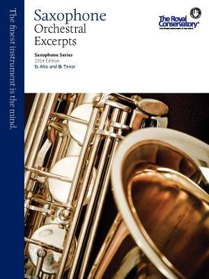 RCM Saxophone Orchestral Excerpts - Saxophone Series 2014 Edition - Book