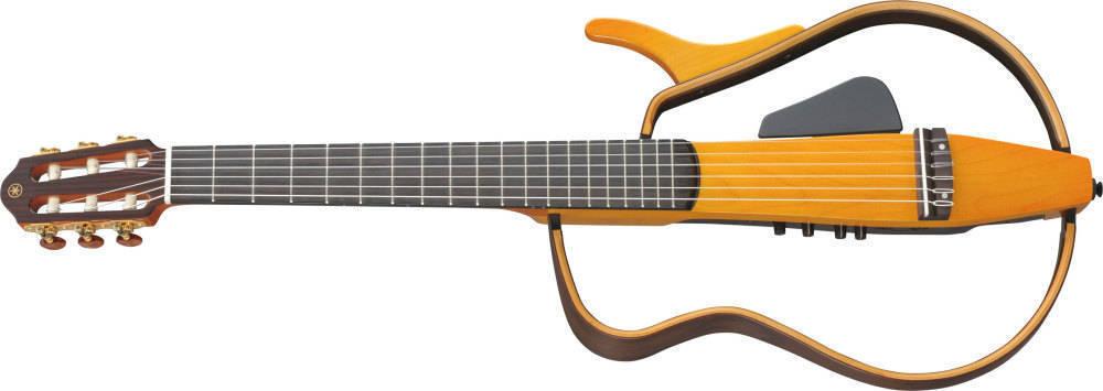 Yamaha silent guitar nylon natural w bag long mcquade for Yamaha silent guitar slg130nw