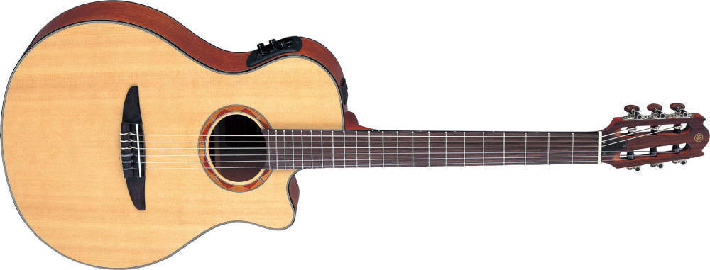 yamaha ntx solid spruce top acoustic electric nylon natural long mcquade musical instruments. Black Bedroom Furniture Sets. Home Design Ideas