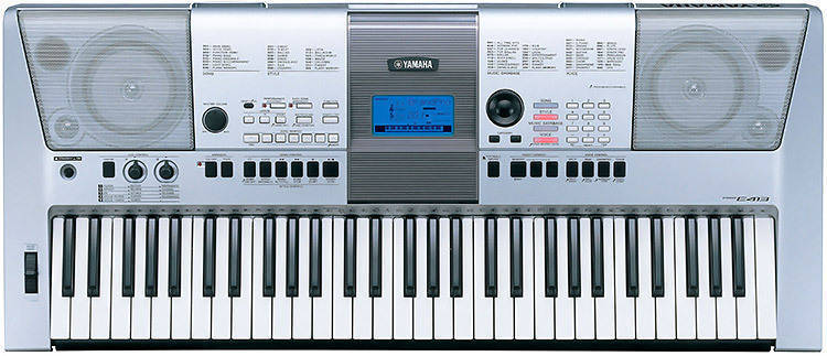 Yamaha psr e413 61 key portable keyboard long for Yamaha professional keyboard price