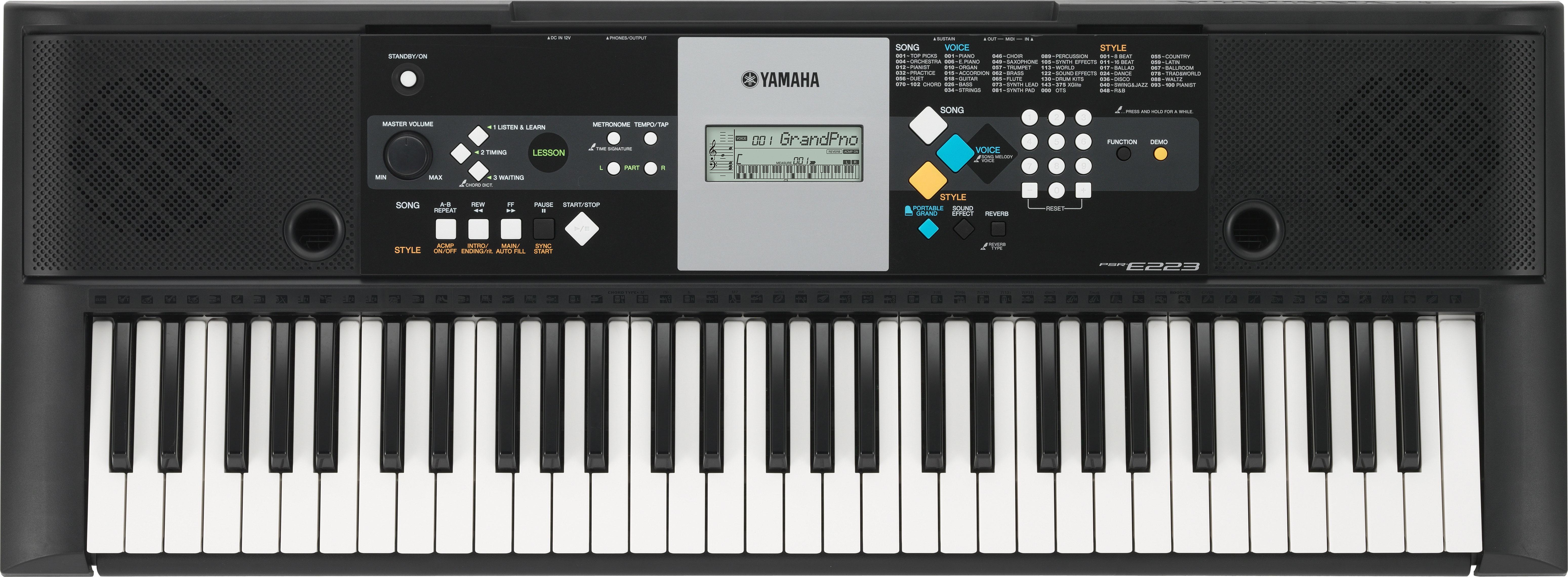 Yamaha psr-e223 (demo) youtube.