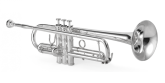 XO Professional Brass - 1600IS Professional Bb Trumpet (Ingram) - Silver Plated Finish