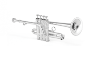 XO Professional Brass - 1700S Professional Bb/A Piccolo Trumpet - Silver Plated Finish