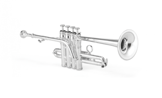 1700S Professional Bb/A Piccolo Trumpet - Silver Plated Finish
