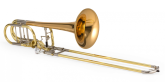 XO Professional Brass - 1240RL-T Bb/F/Gb/D Professional Bass Trombone w/Dual Thayer Valves - Rose Brass Bell