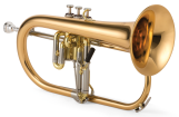 XO Professional Brass - 1646RL Professional Flugelhorn - Rose Brass Bell - Lacquer Finish