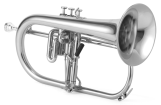 XO Professional Brass - 1646RS Professional Flugelhorn w/Rose Brass Bell - Silver Plated Finish