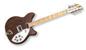 Rickenbacker - 2014 Coy 360 Semi-Hollow Electric Guitar - Walnut