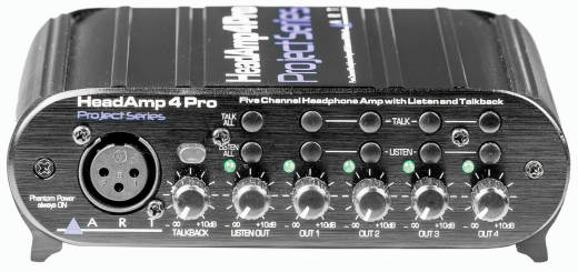 ART HeadAmp4Pro with Aux Inputs and Talkback