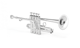 XO Professional Brass - 1700RS Professional Bb/A Piccolo Trumpet w/Rose Brass Bell - Silver Plated Finish