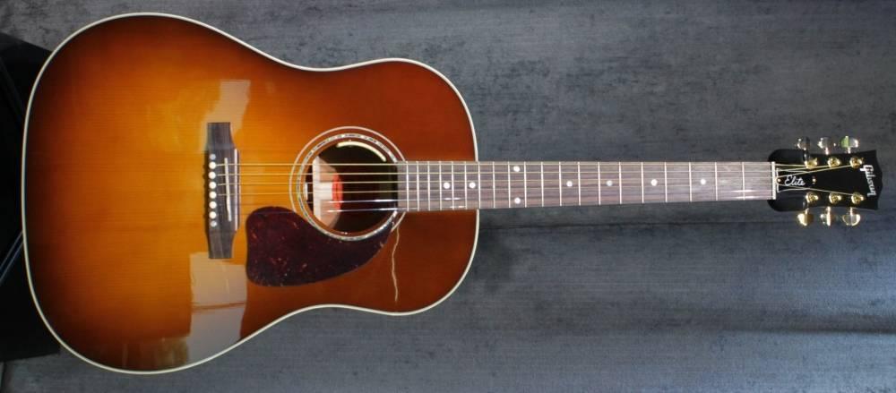 gibson j 45 elite limited acoustic amberburst long mcquade musical instruments. Black Bedroom Furniture Sets. Home Design Ideas