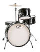 Granite Percussion - 3 Piece Junior Drum Set w/Cymbal, Stands, Throne & More - Black