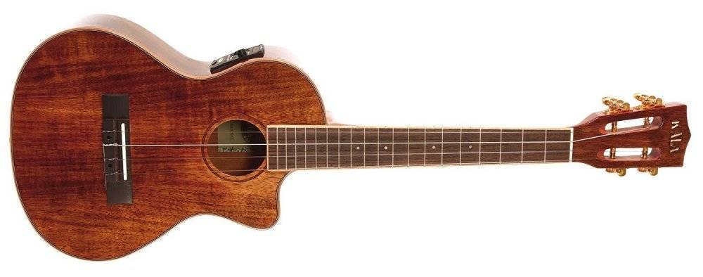 kala hawaiian koa tenor acoustic electric ukulele w eq long mcquade musical instruments. Black Bedroom Furniture Sets. Home Design Ideas