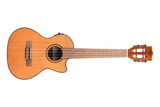 Solid Cedar/Acacia Tenor Ukulele with Electronics