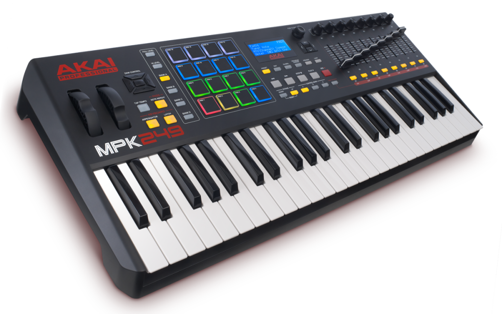 akai 49 key semi weighted keyboard controller long mcquade musical instruments. Black Bedroom Furniture Sets. Home Design Ideas