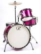 Granite Percussion - 3 Piece Junior Drum Set w/Cymbals, Throne and More - Pink