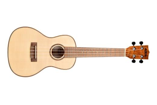 Solid Spruce w/ Flame Maple Concert Ukulele