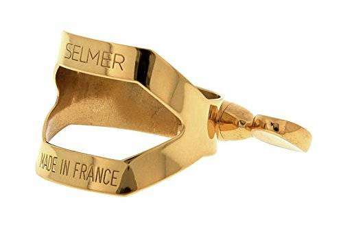 Paris Alto Sax Ligature - Gold Lacquer
