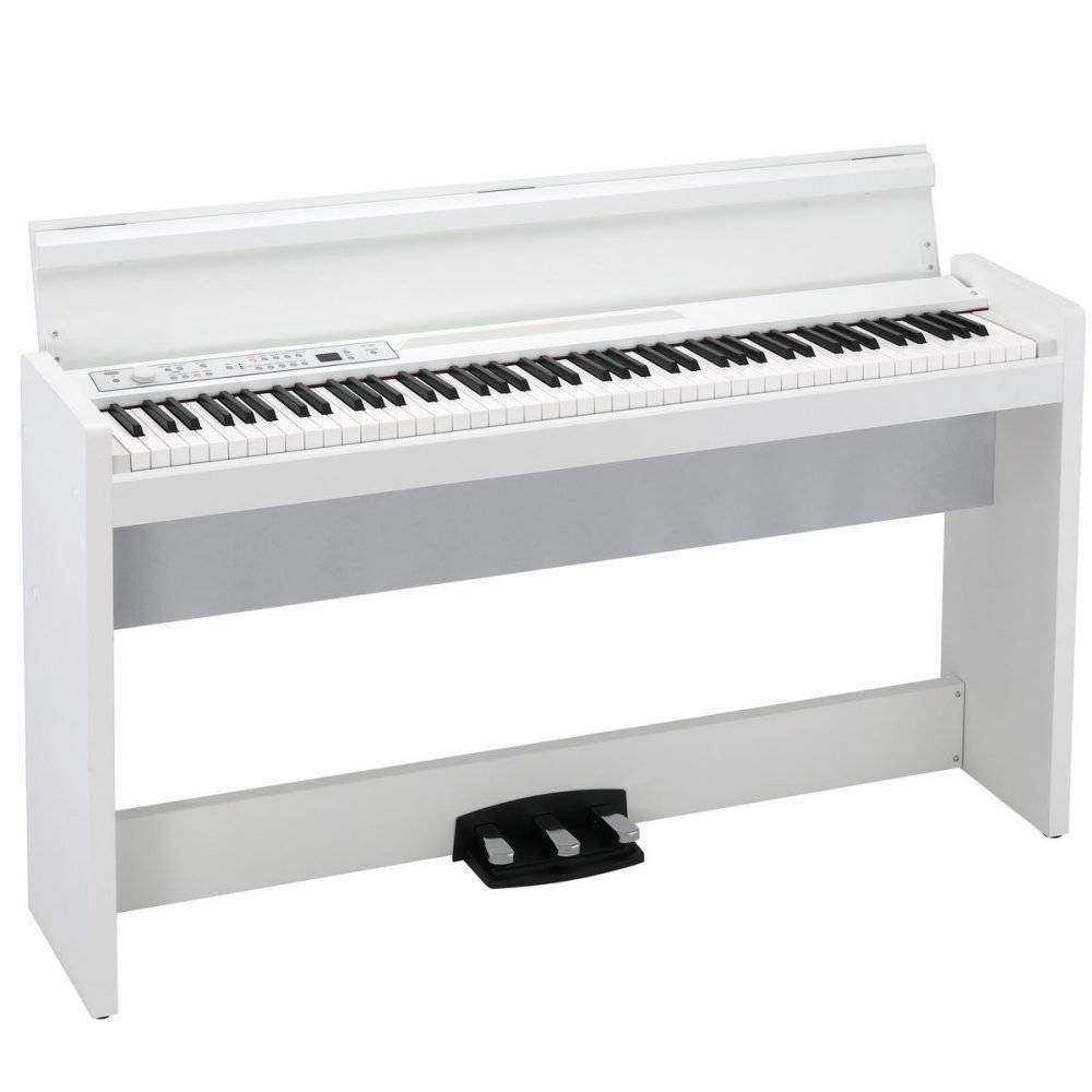 korg 88 key digital piano w stand speaker white long mcquade musical instruments. Black Bedroom Furniture Sets. Home Design Ideas