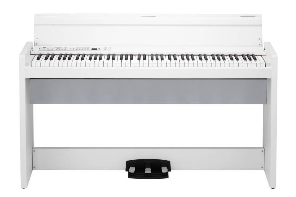 korg 88 key digital piano w stand speaker white long mcquade musical instruments. Black Bedroom Furniture Sets. Home Design Ideas