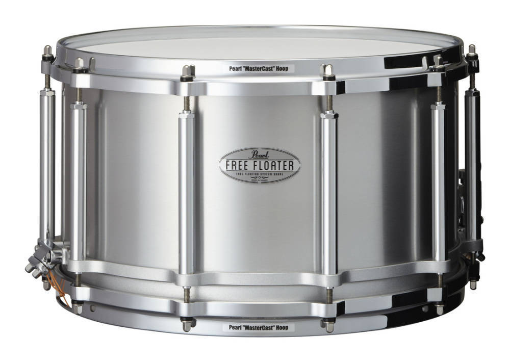 pearl free floating 14x8 inch snare aluminum long mcquade musical instruments. Black Bedroom Furniture Sets. Home Design Ideas