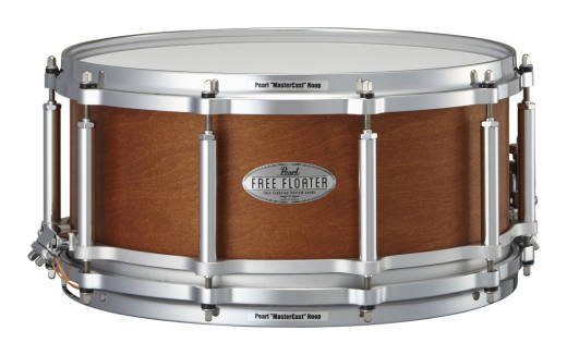 Free Floating 14x6.5 Inch Snare - 6 Ply Maple/Mahogany