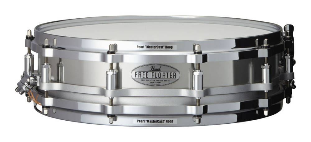 pearl free floating 14x3 5 inch snare stainless steel long mcquade musical instruments. Black Bedroom Furniture Sets. Home Design Ideas
