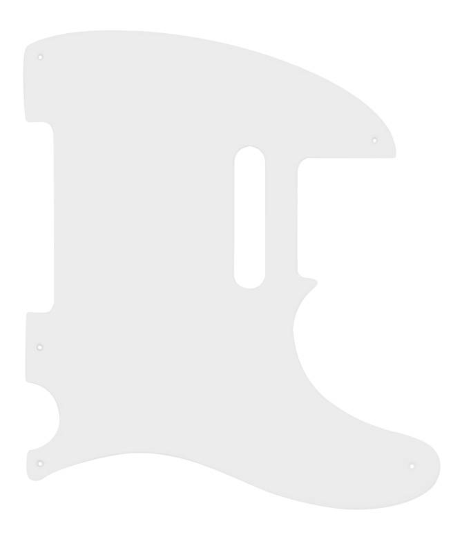 Fender 1 Ply White 5 Hole Mount Telecaster Pickguard Long