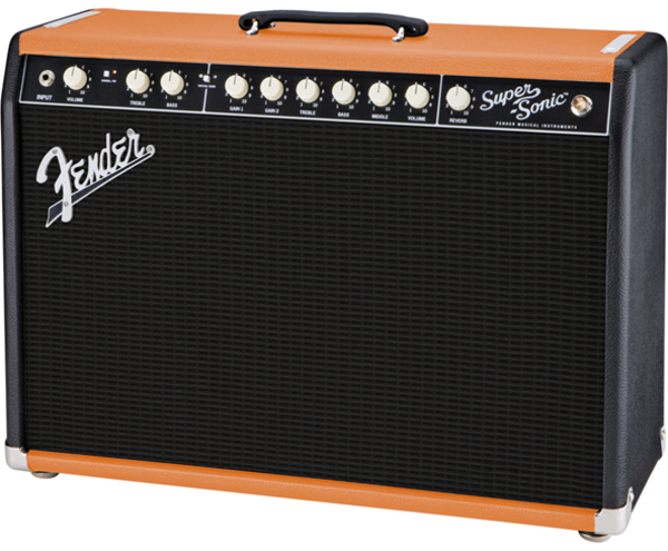 fender supersonic 22 fsr combo amp two tone blackened orange long mcquade musical instruments. Black Bedroom Furniture Sets. Home Design Ideas