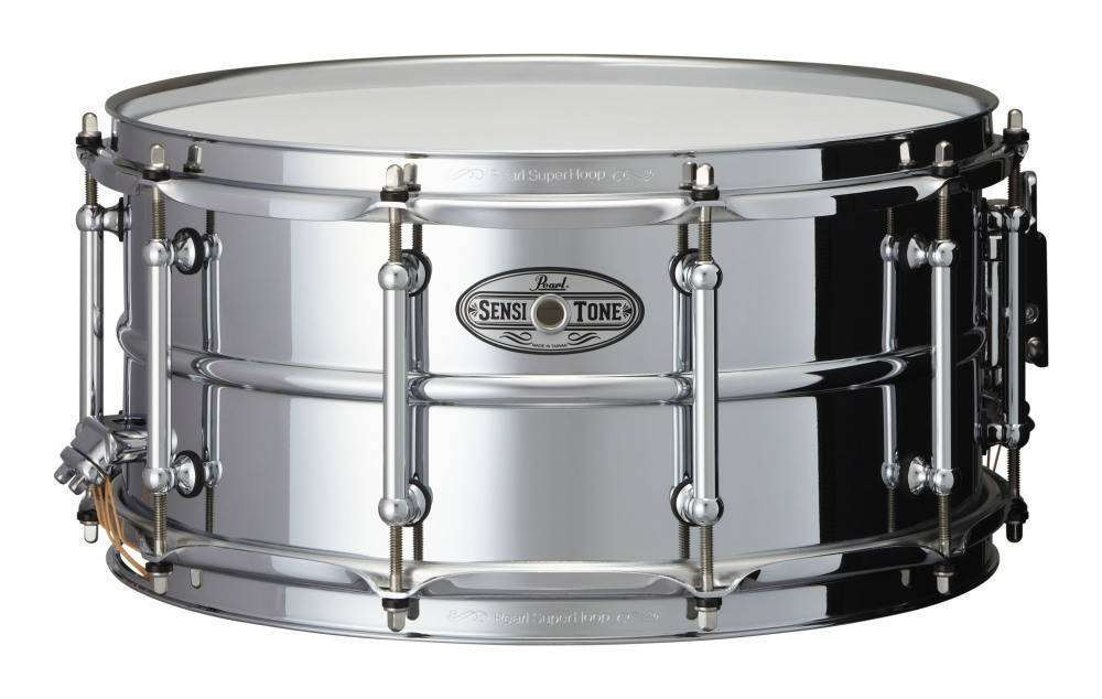 pearl sensitone 14x6 5 inch snare beaded steel long mcquade musical instruments. Black Bedroom Furniture Sets. Home Design Ideas