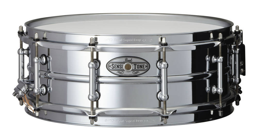 pearl sensitone 14x5 inch snare beaded steel long mcquade musical instruments. Black Bedroom Furniture Sets. Home Design Ideas