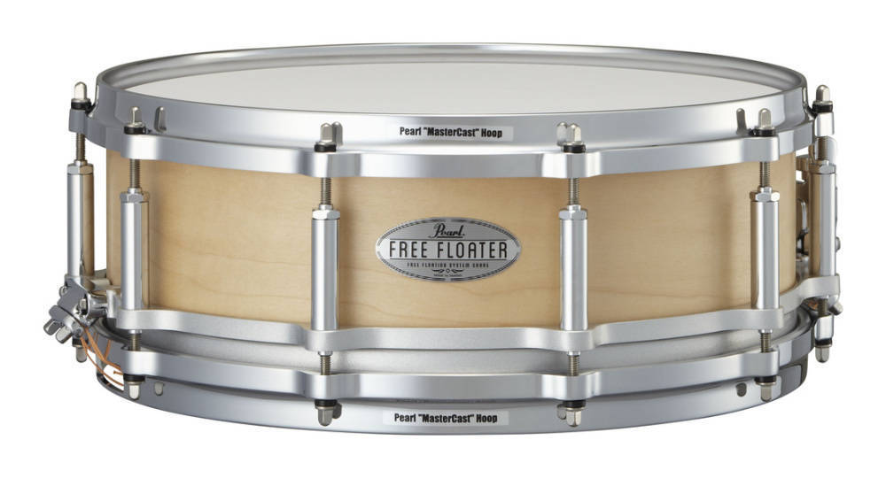 pearl free floating 14x5 inch snare 6 ply maple long mcquade musical instruments. Black Bedroom Furniture Sets. Home Design Ideas