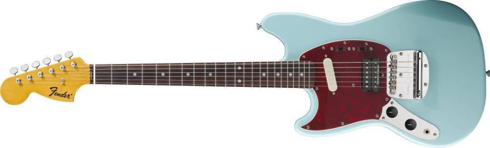 fender kurt cobain mustang sonic blue left hand long mcquade musical instruments. Black Bedroom Furniture Sets. Home Design Ideas