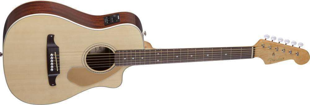 fender malibu ce acoustic electric guitar w preamp and built in tuner natural long mcquade