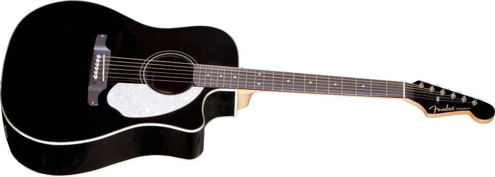 fender sonoran sce acoustic electric w fishman preamp and built in tuner black long. Black Bedroom Furniture Sets. Home Design Ideas