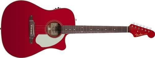 fender sonoran sce acoustic electric guitar w fishman preamp and built in tuner candy apple. Black Bedroom Furniture Sets. Home Design Ideas