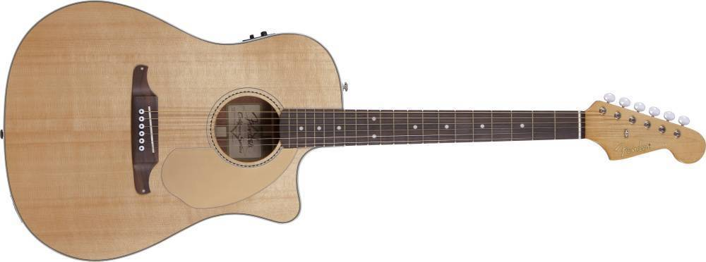 fender sonoran sce acoustic electric guitar w fishman preamp with built in tuner natural. Black Bedroom Furniture Sets. Home Design Ideas