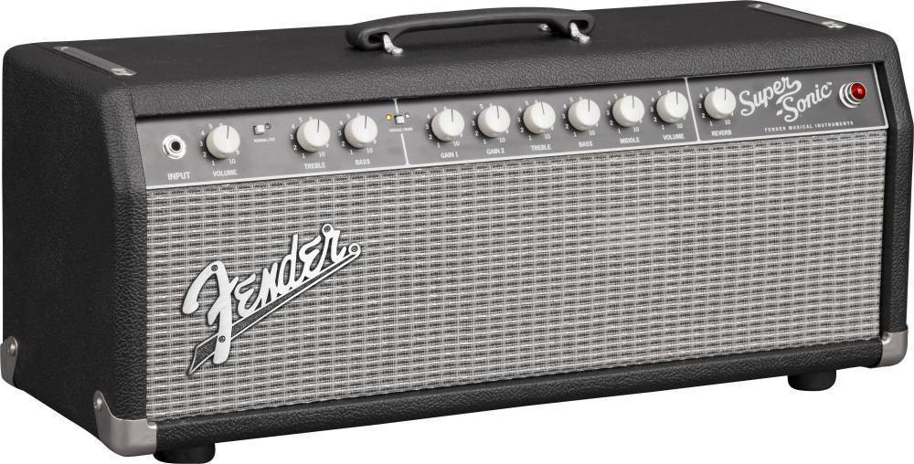 fender super sonic 22 head 120v black silver long mcquade musical instruments. Black Bedroom Furniture Sets. Home Design Ideas
