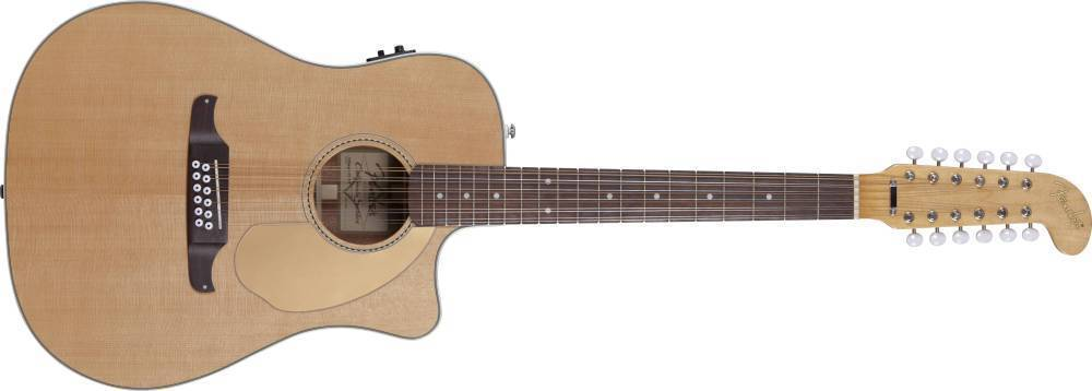 Villager 12 String Acoustic Electric Guitar W Fishman Preamp And Built In