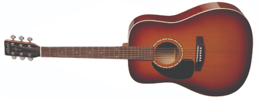 Godin Guitars - Songsmith Acoustic Guitar - Varnish Burst, Left Handed