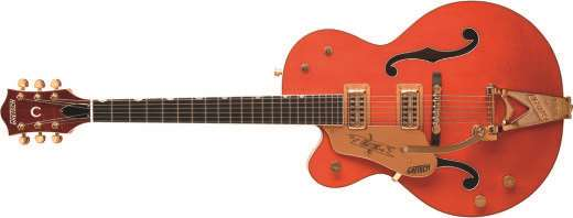 Professional Collection G6120LH Chet Atkins Hollow Body Electric Guitar - Orange Stain (Left Hand)