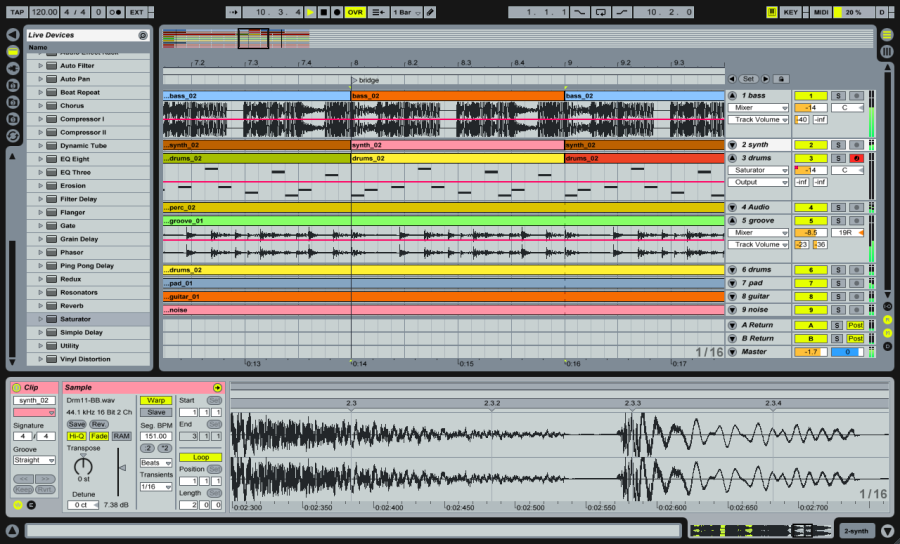 ableton live 7 long mcquade musical instruments rh long mcquade com How Much Is Ableton Ableton Live Lite Features