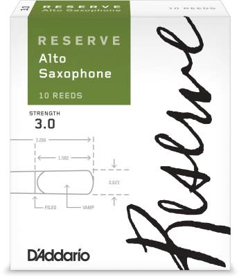Reserve Alto Sax Reeds - Strength 3.0 - Pack of 10