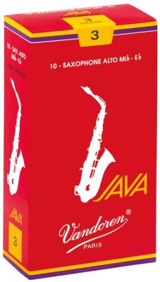 Java Red Alto Sax Reeds 2 1/2 Strength - Box of 10