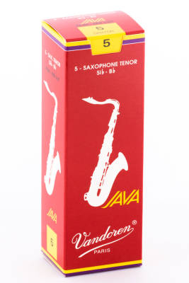Java Red Tenor Sax Reeds 5 Strength - Box of 5