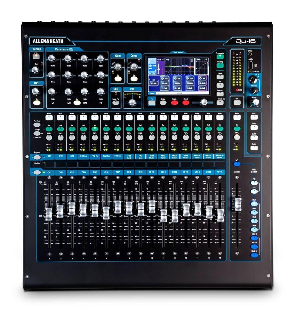 allen heath qu 16 16 channel digital mixing console long mcquade musical instruments. Black Bedroom Furniture Sets. Home Design Ideas