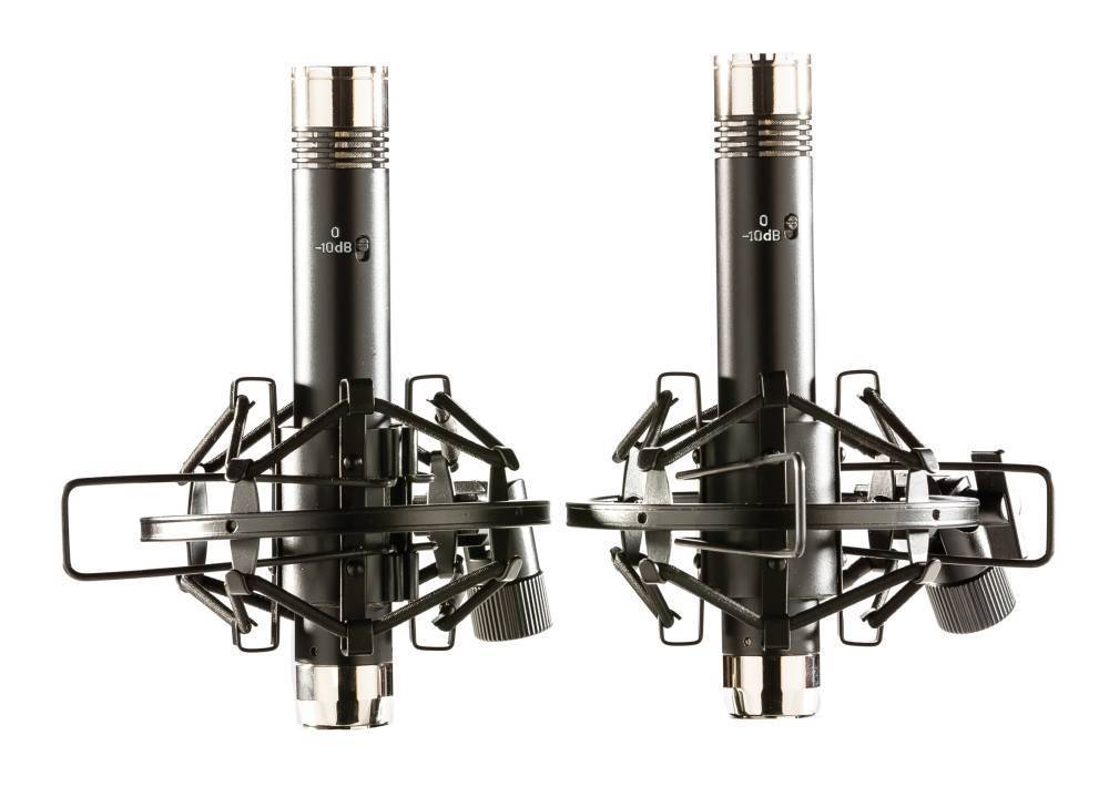 apex matched pencil mics - black  chrome