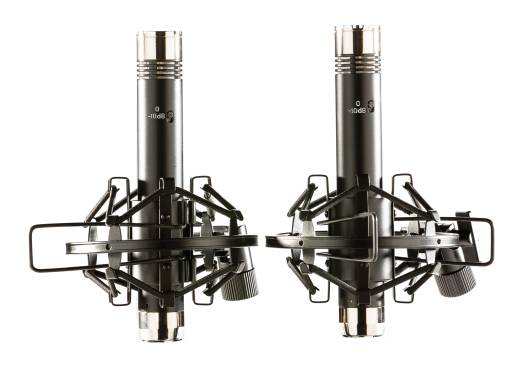 Matched Pencil Mics - Black/Chrome