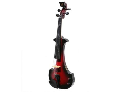 Bridge Aquila Electric Violin - Black/Red